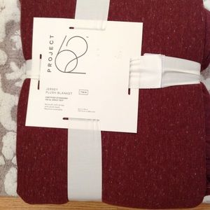 New Project 62 Plush Blanket, Burgundy, Twin size